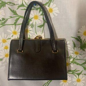 Vintage MCM  structured brown leather handbag